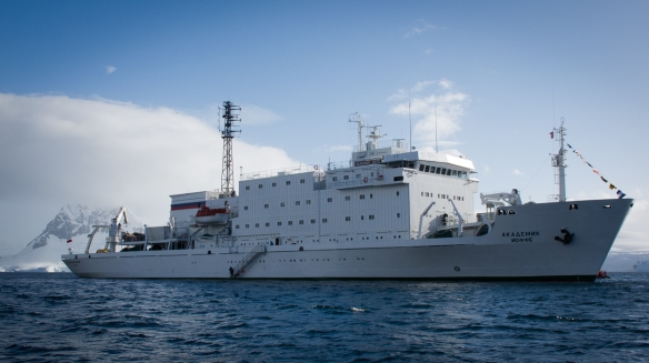 The Akademik Ioffe - a Russian research vessel and our home for 10 days