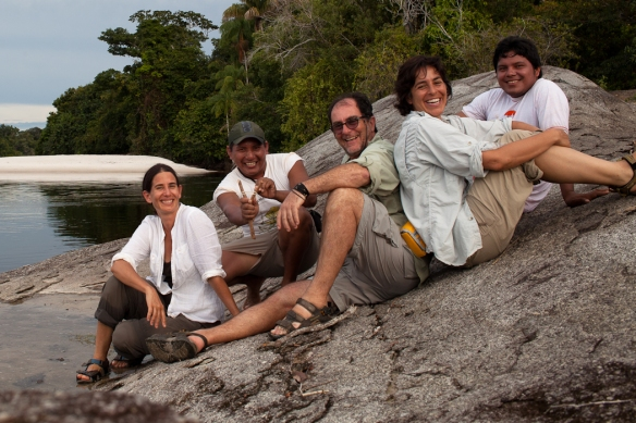 Our tribe of five: (left to right). myself, Ely, Lalado, Carolina, and Marivelton
