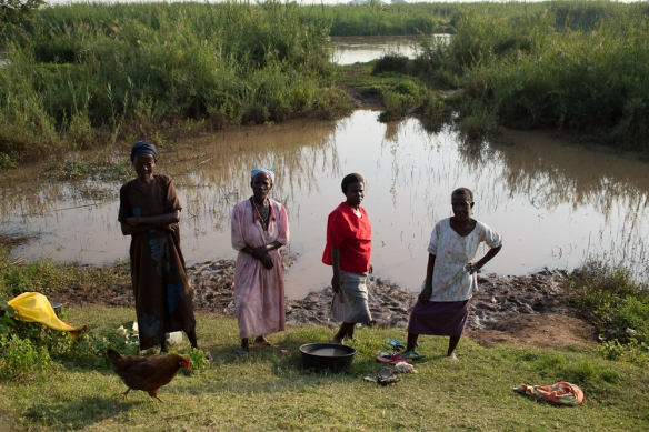 women at flooded area, Western Kenya