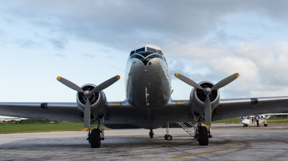 The renovated DC-3 plane that took me to Lifuka.