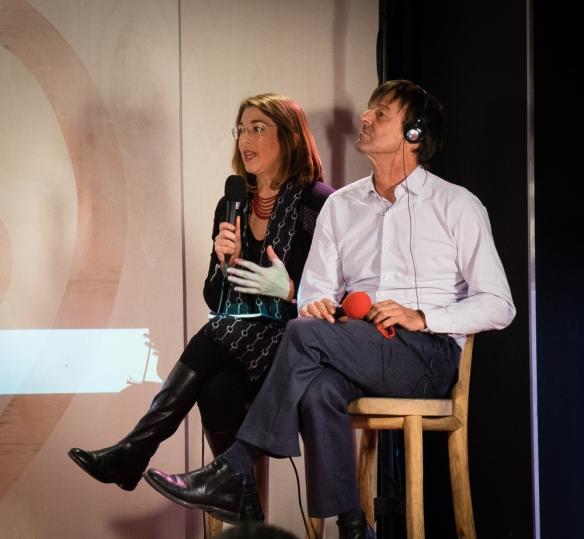 Naomi Klein and Nicolas Hulot.