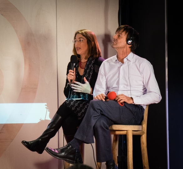 Naomi Klein and Nicolas Hulot.